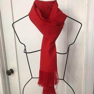 Vintage Red Viscose Scarf